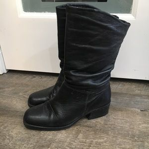 St Johns Bay leather slouch boots